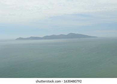 kapiti Island on a misty day new Zealand