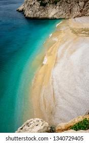 Kaputas Beach near Kalkan, Turkey. Lycian way. Summer and holiday concept.