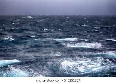 Kara sea (basin of Arctic ocean) in high Arctic (Novaya Zemlya archipelago). old name of Kara sea - Ice cellar, but now no ice. Turbulent waves of arctic storm