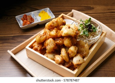 karaage is japanese crispy chicken fried