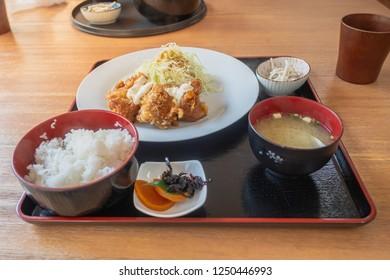 Karaage, Japanese fried chicken, Takachiho, Miyazaki, Kyushu, Japanese