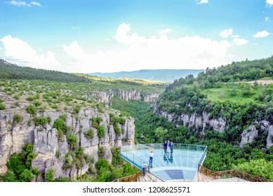 Karabuk, Turkey, 21 May 2013: Tokatli Canyon, Crystal Terrace on incekaya of Safranbolu