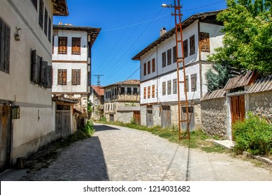 Karabuk, Turkey, 22 May 2013: Historic Mansions, Yoruk Village of Safranbolu