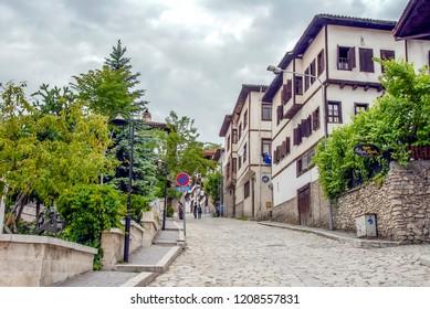 Karabuk, Turkey, 23 May 2013: Streets and Mansions of Safranbolu