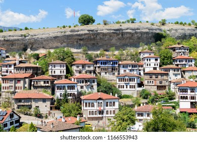 Karabuk, TURKEY -  August 20, 2018: Traditional Ottoman houses in Safranbolu. Safranbolu was added to the list of UNESCO World Heritage sites