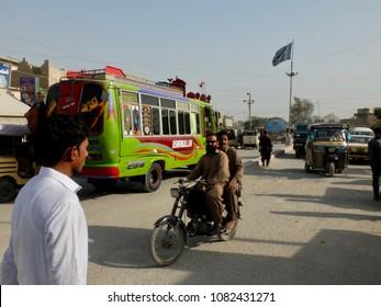 Karachi, Pakistan, 04/22/2018 Traffic in Karachi