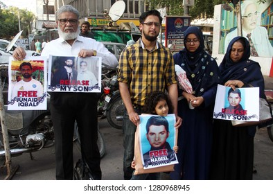 KARACHI, PAKISTAN - JAN 10: Relatives of Missing persons are holding protest  demonstration for recovery of their love one, on January 10, 2019 in Karachi.