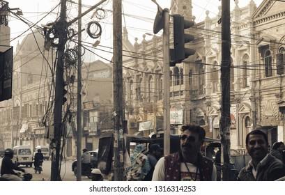 Karachi, Pakistan: January 10, 2019 ; Zaibunnisa Street is a famous street in Karachi, Pakistan located in the Saddar area in the heart of the city .