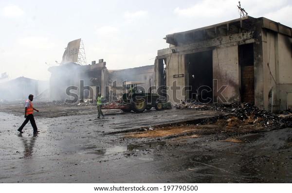 Karachi Pakistan Jun10 View Devastated Cargo Stock Photo