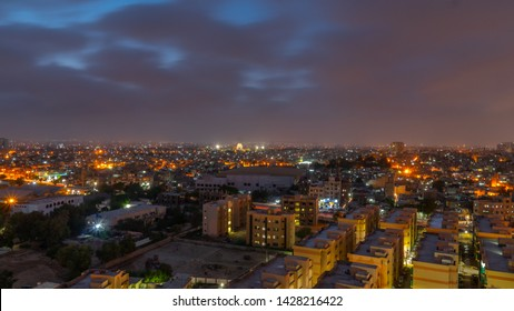 KARACHI, PAKISTAN - JUNE 5, 2019 Beautiful arial view of karachi