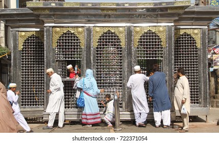 KARACHI, PAKISTAN - SEP 25: Sabeel of Imam Hussain set by Bohra Community during Muharram-ul-Haram on September 25, 2017 in Karachi.