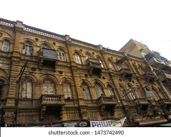 Karachi Sindh Pakistan - 05 Aug 2019: old building constructed in British era in the saddar town area of karachi