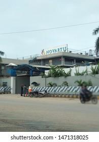 Karachi Sindh Pakistan - 5 Aug 2019: Novartis pharmaceutical company at west wharf road