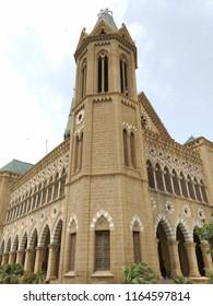 Karachi, Sindh / Pakistan - August 26 2018: Historical Frere Hall Building Pictures.