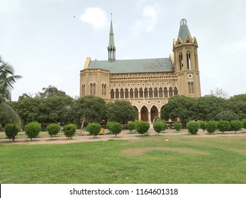 Karachi, Sindh / Pakistan - August 26 2018: Historical Frere Hall building beautiful pictures.