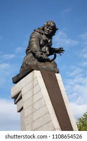 KARAGANDA. KAZAKHSTAN. 06 JUIY 2016 : Monument to Nurken Abdirov in Karaganda. Kazakhstan
