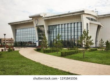KARAGANDA. KAZAKHSTAN. 06 JUIY 2016 : Tennis court building in Karaganda. Kazakhstan