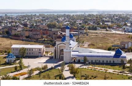 Karaganda, Kazakhstan - September 1, 2016: Karaganda city mosque number 1 (the old mosque)