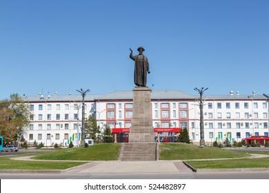 Karaganda, Kazakhstan - September 1, 2016: Monument Kazybek Bee