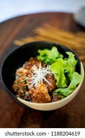 Karake Chicken Curry Rice, Chicken rice, Japanese food curry rice, Fried Chicken Karake