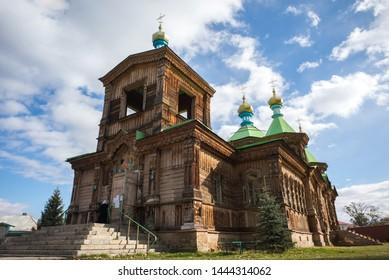 KARAKOL, KYRGYZSTAN: Orthodox church of the Holy Trinity in the city of Karakol, Issyk-Kul, Kyrgyzstan