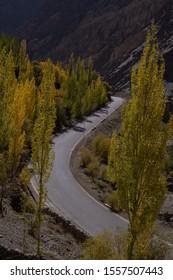 The Karakoram highway in Pakistan