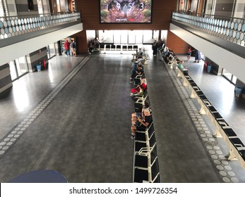Karakoy ferry port waiting hall, September 6, 2019 in Istanbul, Turkey.
