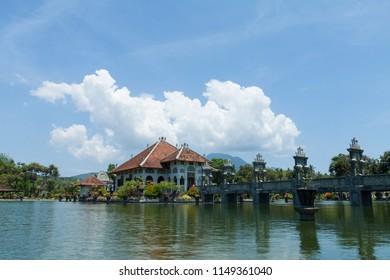 Karangasem, Bali / Indonesia - 11 16 2012: Water Palace Taman Ujung in Bali Island Indonesia
