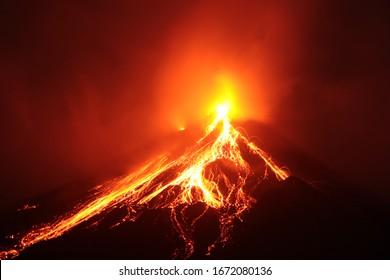 Karangetang Volcano at Siau Island