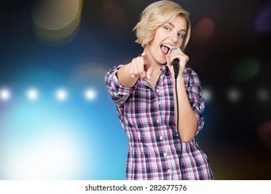 Karaoke, Singer, Female.