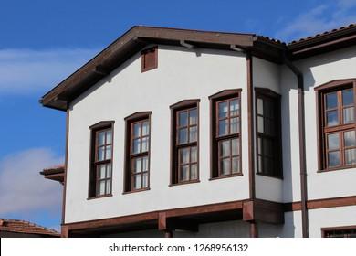 Karatay, Konya / Turkey - December 17, 2017: A traditional Konya house.