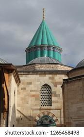 Karatay, Konya / Turkey - December 23, 2018 Turkey: Tomb of Rumi in Konya.