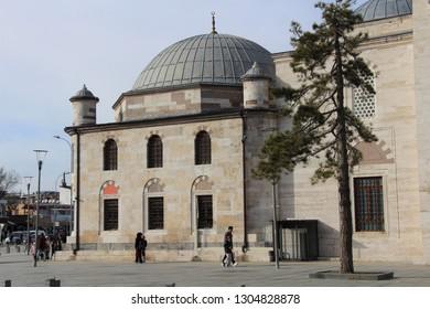 Karatay, Konya / Turkey - February 2, 2019: Yusuf Ağa Library belonging to the Ottoman period in Konya.