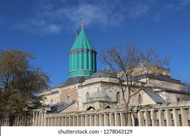Karatay, Konya / Turkey - January 5, 2019 Turkey: Tomb of Rumi in Konya.