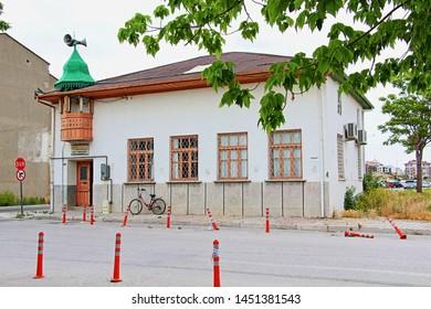 Karatay, Konya / Turkey - June 3, 2019: Bey Masjid in Karatay district of Konya