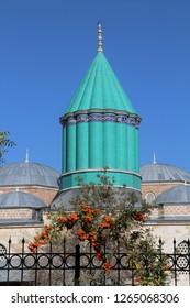 Karatay, Konya / Turkey - November 2, 2017 Turkey: Tomb of Rumi in Konya.
