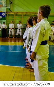 Karate championship in Dmitrov, Moscow region, Russia