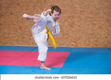 Karate girl martial arts