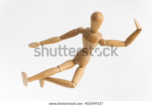 Karate Kidperson Represented By Wooden Dummy Stock Photo Edit Now
