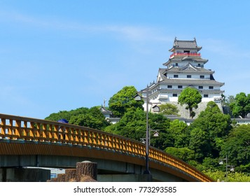 Karatsu Castle in summer Saga Kyushu Japan
