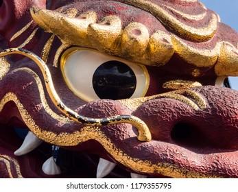 Karatsu, Japan - November 3, 2016: Detail of Karatsu Kunchi festival float
