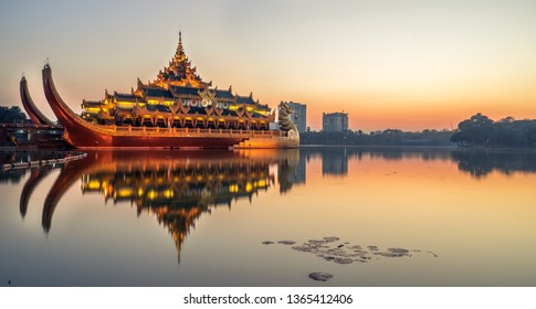Karaweik Palace, Yangonm Myanmar.