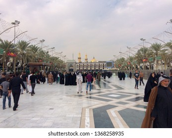 karbala / Iraq 08 15 2016:Arbiana hike, A great global gathering, Muslims around the world, Millions of women and men, A religious movement in Iraq