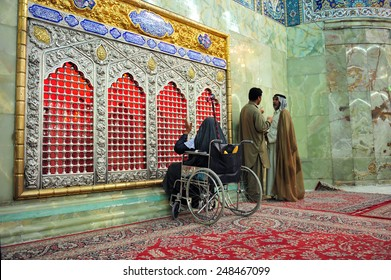 KARBALA, IRAQ - AUGUST 21: Daily life in Karbala on August 21, 2011 in Karbala, Iraq. The holy tomb of imam Hussain.