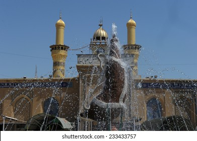 KARBALA, IRAQ - AUGUST 21: Street of Karbalaand daily life on August 21, 2011 in Karbala, Iraq. The holy tomb of imam Hussain.