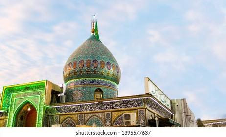 Karbala ,Iraq- May 11 2019: Maqam-e-Imam e Zamana a.s HD
