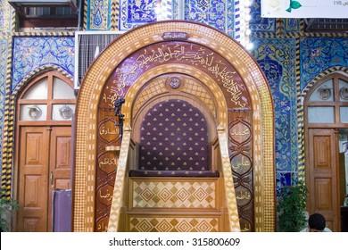 Karbala, Iraq   May 30 2014: The shrine of Imam Hussein in Karbala, Iraq