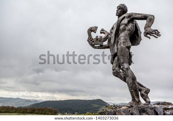 Kardzhali, Bulgaria - Orpheus statue is way of entering to town of Kardzhali Bulgaria, It is a symbol of this town