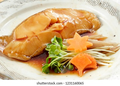 Karei no Nitsuke (Simmered Righteye Flounder in Sweetened Soy Sauce)