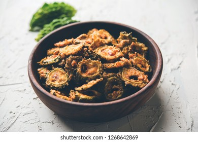 Karela Chips or Bitter Gourd Fry is a healthy snack recipe